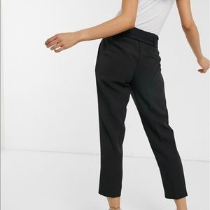 ASOS high waisted front tie professional pant